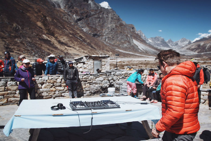 Watch Paul Oakenfold Playing At Everest Base Camp (Video)